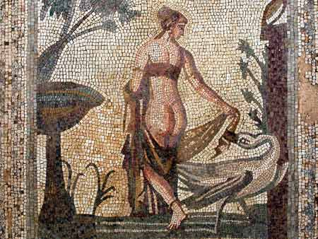 Leda and the Swan mosaic Kouklia Paphos