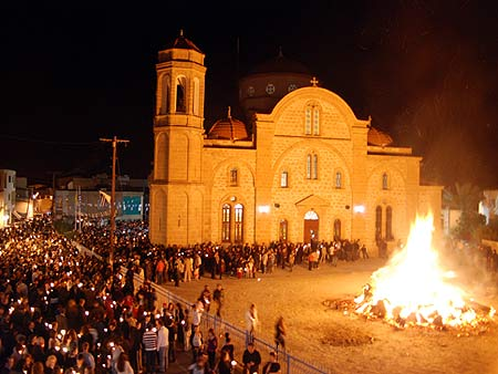 Greek Orthodox Easter celebration in Cyprus during April