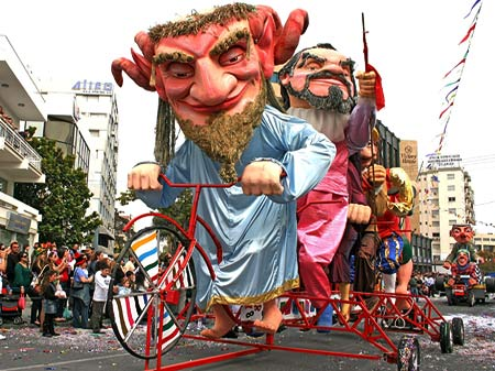Limassol carnival parade during February