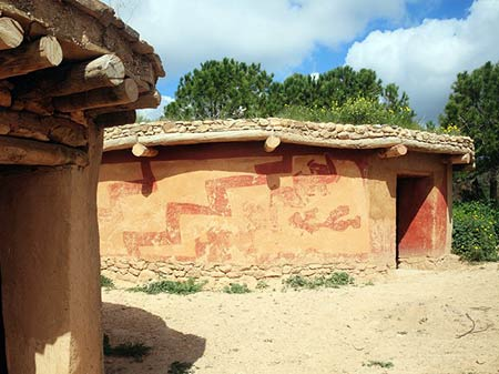 Lemba archaeological site reconstructed ancient houses